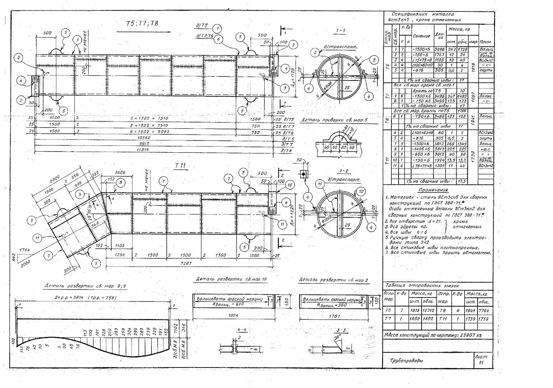 Схемы трубопроводов в разрезе